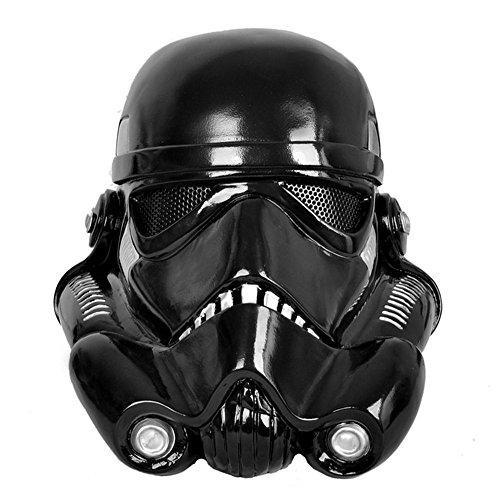 Stormtrooper Costume Replica (Gmasking Star Wars Stormtrooper Adult Helmet 1:1 Prop Black Replica)
