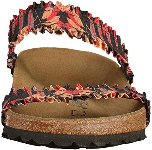 Papillio Damen Curacao Stretch Schmal Sandale Fiore Volant Nero (1009887)