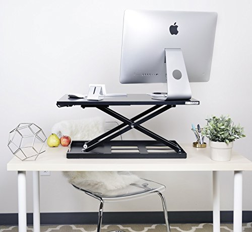 X-ELITE PRO Height Adjustable Sit / Stand Desk - Converts your Existing...