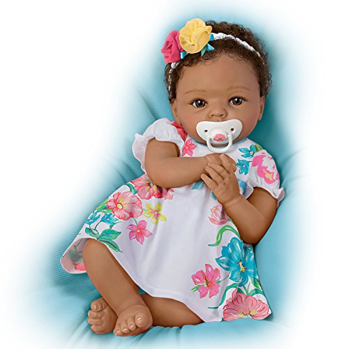 Search : The Ashton-Drake Galleries Cheryl Hill Lifelike Weighted Silicone Baby Doll with Rooted Hair