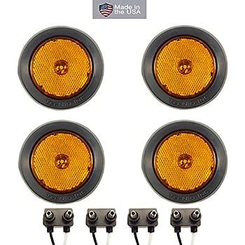 Amazoncom 4 LED 25 Round Red Clearanceside Marker Light Kit