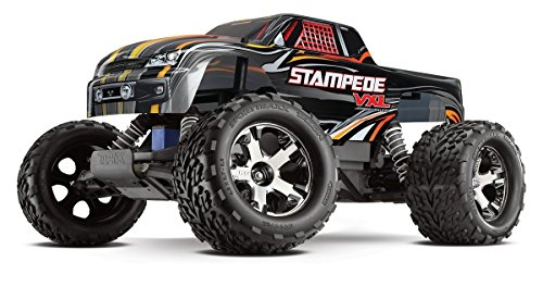 Stampede Monster Truck (Traxxas 36076-3 Stampede VXL 1/10 Scale 2WD Brushless Monster Truck with TQi 2.4GHz Radio, Black)