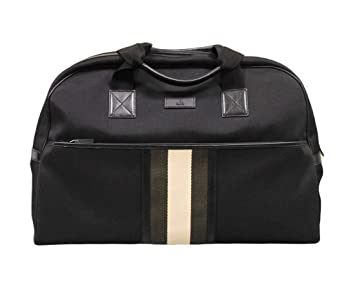 5202f06a34 Amazon.com | Gucci Men's Black Fabric Web Duffle Travel Bag 282511 ...