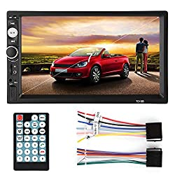 Fosa Audio 7010B Double Din, Touchscreen Car Audio Stereo Receiver MP5 Player Bluetooth Digital LCD Monitor 7 800480 Car Video Audio MP3 Player AM/FM Radio Rear-View Monitor