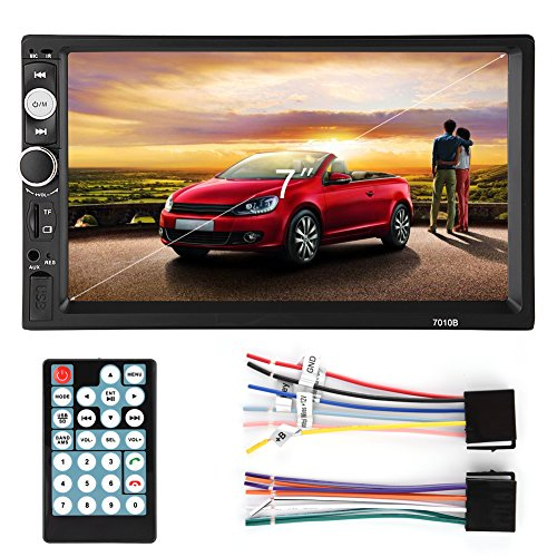 Fosa Audio 7010B Double Din, Touchscreen Car Audio Stereo Re