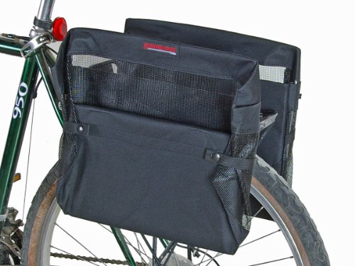 Bushwhacker Omaha Bicycle Grocery Pannier Cycling Rack Basket Bike Rear Bag Rear Accessories Sold as Pair