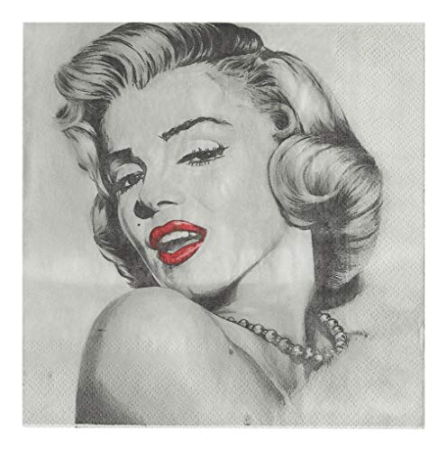 Salome Idea 60 Counts Creativite Funny Disposable Napkins for a Wedding or Tea Party Creative Napkins(Marilyn Monroe) -