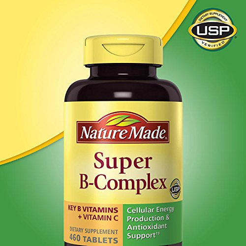 Nature Made Super B Complex Tablets , New Larger Count , 460 Count Single & Multi Packs