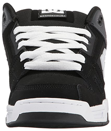 DC Men's Stag Sneaker, Black/Grey, 9 D US