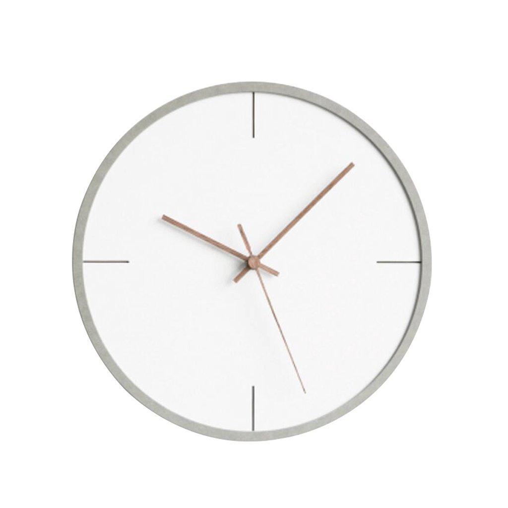 掛け時計 創造的な装飾的な壁時計木製の時計レトロ寝室の研究室居間30cm白 UOMUN (色 : G g) B07C4T8SJZG g