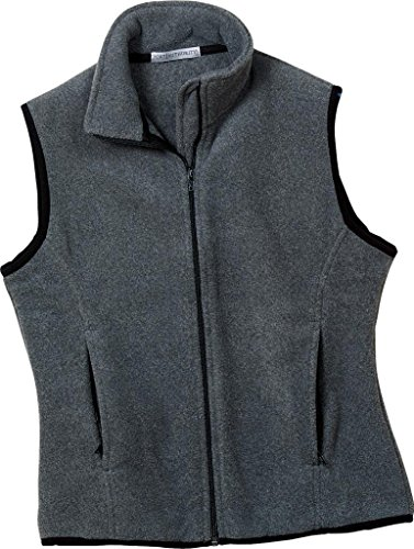 Port Authority Ladies R-Tek Fleece Vest Midnight Heather LP79 L (Port Ladies Fleece Authority R-tek)