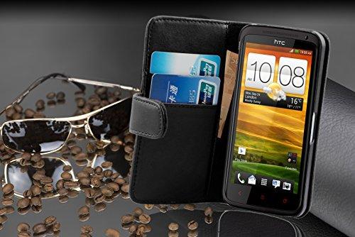 Cadorabo - Funda HTC ONE X / X PLUS Book Style de Cuero Sintético Liso en Diseño Libro