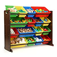 Tot Tutors WO420 Discover Collection Supersized Wood Toy Storage Organizer,