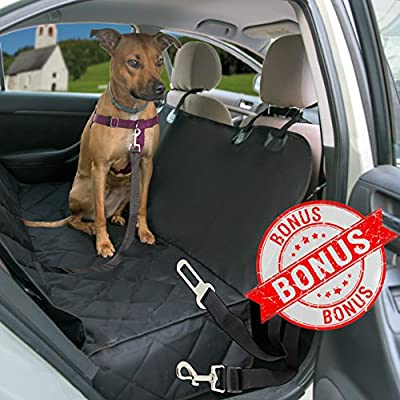 Pet Seat Cover for Cars - Hammock Style Non Slip Waterproof Cover Protects Car, Trucks and SUVs Back Seats from Pets Fur, Mud, Scratches, Etc.by LikePuppy