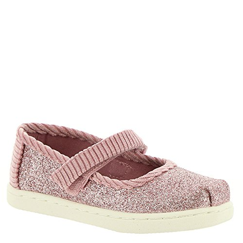 TOMS Kids Baby Girl's Mary Jane (Infant/Toddler/Little Kid) Rose Glow Iridescent Glimmer/Corduroy 7 M US Toddler ()