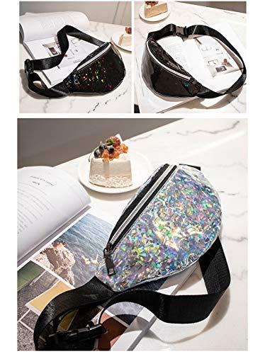 Multifuncional Plata Elegante Riñonera De Capacidad La Para Cintura Láser Bolso Shmona Gran Las Deportes Mujeres Los Empanadillas aC51Bqnwx