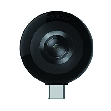 MADV Mini 360 Camera, 13MP/5 5K Photo, HD Video, Live Stream Enabled,  Android Version USB Type C (No Battery Required)