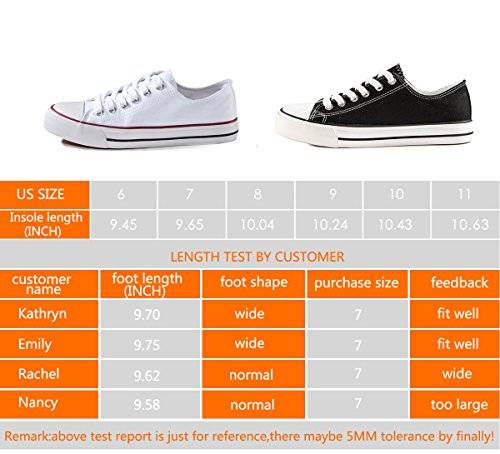 ZGR Women's Canvas Low Top Sneaker Lace-up Classic Casual Shoes (10 B(M) US, White)