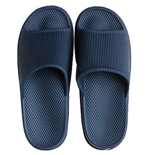 Respeedime Bath Slippers Home Household Indoor Sandals Navy 8M