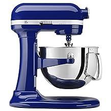 KitchenAid KP26M1XBU Professional 600 Series 6-Quart Bowl-Lift Stand Mixer, Cobalt Blue