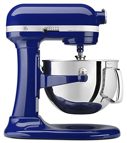 (KitchenAid KP26M1XBU 6 Qt. Professional 600 Series Bowl-Lift Stand Mixer - Cobalt Blue)
