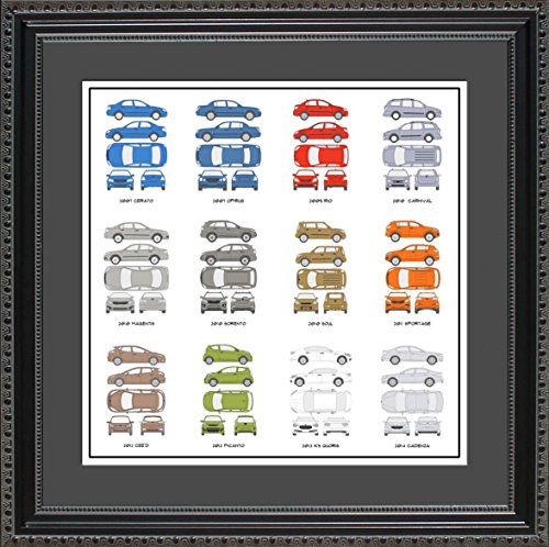 Concept Nomad Car Chevrolet - Kia Automobile Collection Framed Wall Art | Years and Models Auto Car Gift