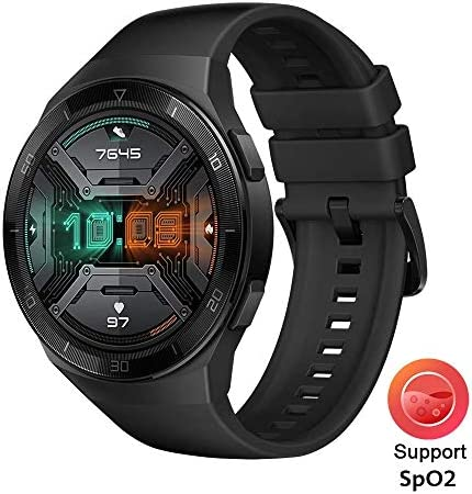 HUAWEI Watch GT 2e Bluetooth SmartWatch, Sport GPS 14 Days Working Fitness Tracker, Heart Rate Tracker, Blood Oxygen Monitor, Waterproof for Android and iOS, 46mm Graphite Black 51yaCNZdHpL