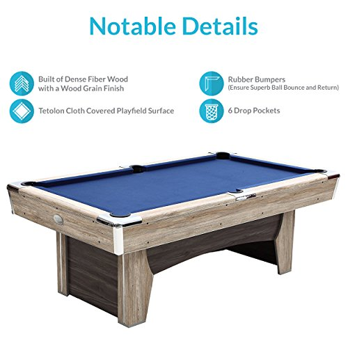 Beachcomber Indoor Pool Table  Inches With Free Complete Accessories Set By Harvil