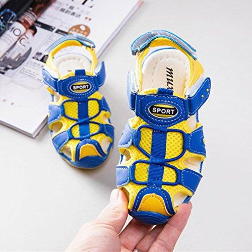 Prevently Kinder Sommer Sandalen Schuhe Turnschuhe Geschlossen Zehen Sandalen Strand Schuhe Sportschuhe Kleinkind Kinder Schuhe Baby Boy Mädchen Geschlossene Zehe Gelb