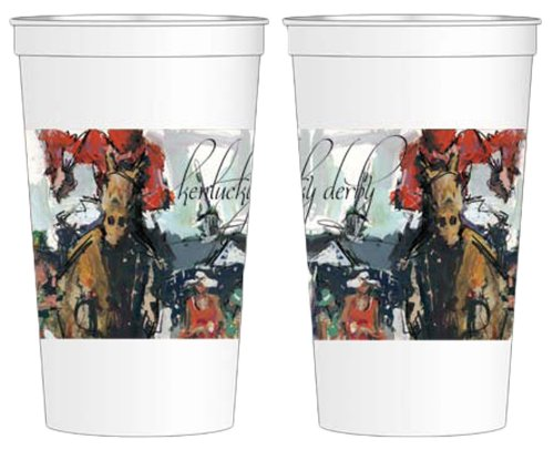 Kentucky Derby Artwork 16oz Beverage Cups - Derby Flatware