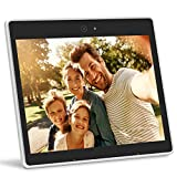iHoment Wi-Fi Cloud Digital Photo Frame & Live Chat,9.7 Inch IPS Display with Touch Screen,Video Call,Smart Voice Recognition,iPhone & Android App,12GB Free Online Cloud Storage(white)