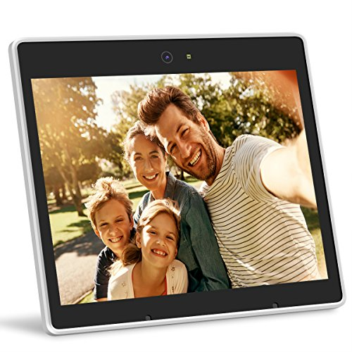 iHoment Wi-Fi Cloud Digital Photo Frame & Live Chat,9.7 Inch IPS Display with Touch Screen,Video Call,Smart Voice Recognition,iPhone & Android App,12GB Free Online Cloud Storage(white) by iHoment