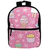 ice cream book bag - Pink Summer Ice Cream School Backpack Travel Bags Bookbag For Kids