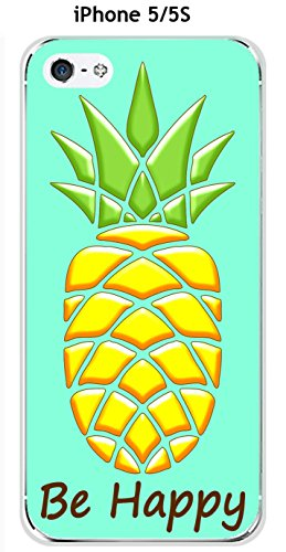 Cover Ananas Smeraldo Be Happy per Apple Iphone 5/5S