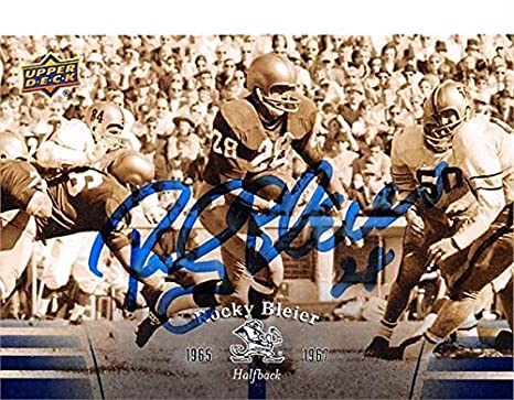 8f37d35ab6a Rocky Bleier autographed football card (Notre Dame Fighting Irish) 2013  Upper Deck  12