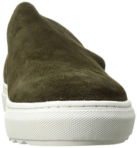 J Slides Jslides Womens Perrie Sneaker Kaki In Pelle Scamosciata
