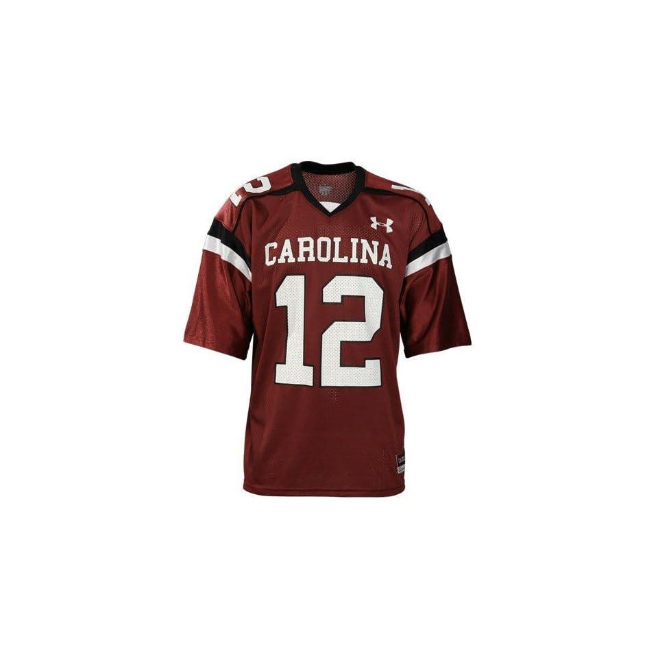 Under Armour South Carolina Gamecocks #12 Garnet Youth Replica Football Jersey