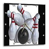 Cheap 3dRose dpp_16304_3 Bowling Ball and Pins-Wall Clock, 15 by 15-Inch