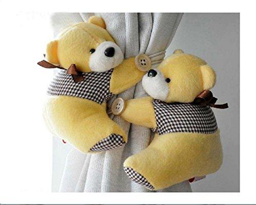 Honeya Free shiping A Pair of Kid Child Infant Nursery Bedroom Livingroom Curtain Tieback Animal Cute Cartoon Teddy Bear Decorative Window Curtain Hooks Clip Clasps Toy CH001 by Honeya