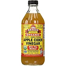 Bragg Apple Cider Vinegar - With The Mother - USDA Certified Organic - Raw - 16 oz - All Natural Weight Loss, Detox, Digestion & Circulation Support - NON-GMO