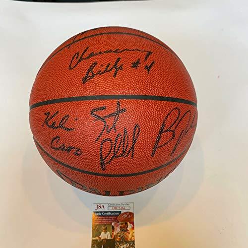 - Chauncey Billups Tony Battie Bobby Jackson 1997 Draft Signed Basketball JSA