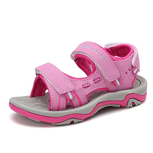 DREAM PAIRS Big Kid 170891_K Pink Fuchsia Fashion Athletic Sandals Size 5 M US Big - Fuchsia Apparel Kids Little