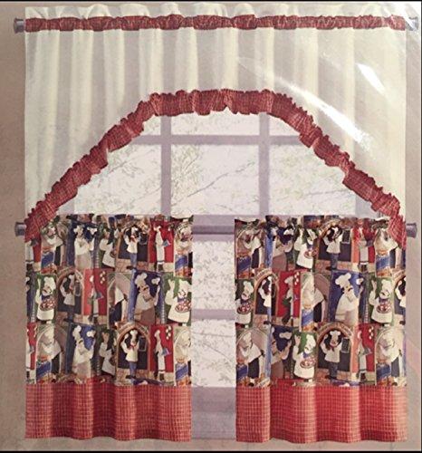 italian chef kitchen curtains - 1