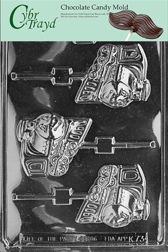 UPC 649979370730, Cybrtrayd K073 Happy Train Lolly Chocolate Candy Mold with Exclusive Cybrtrayd Copyrighted Chocolate Molding Instructions