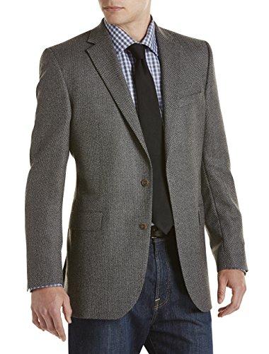 Jack Victor Big and Tall Birdseye Wool Sport Coat, Black 54 (Birdseye Sport Coat)