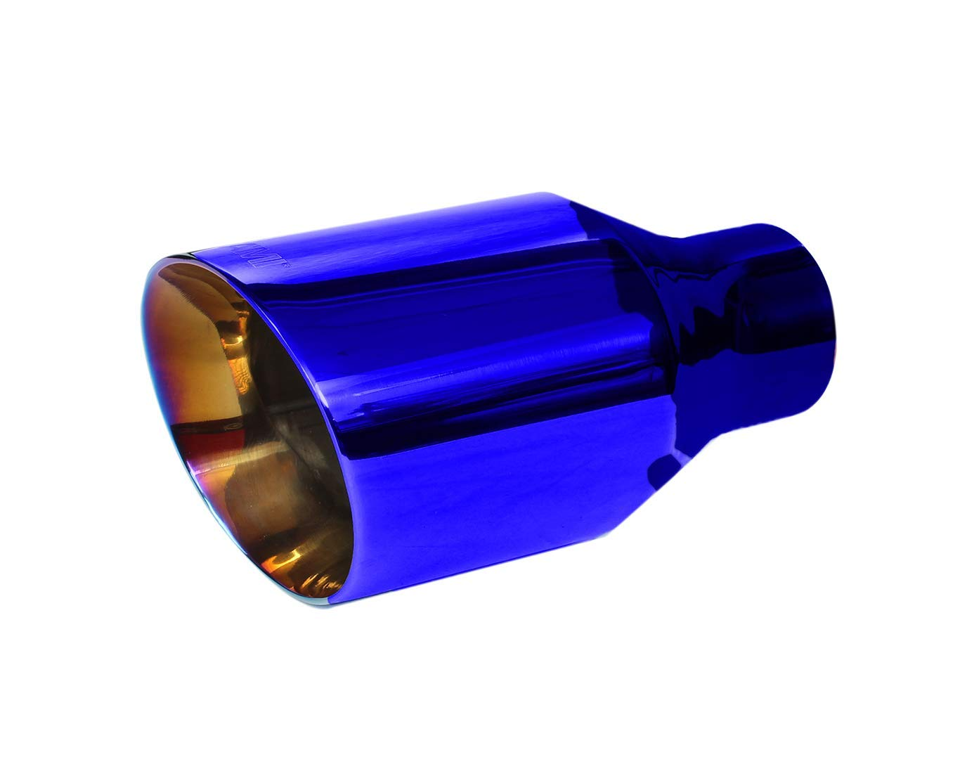 """Oval Tip 2.5/"""" Inlet 5.5/"""" Outlet Chrome N1 Exhaust Muffler Stainless Steel"""