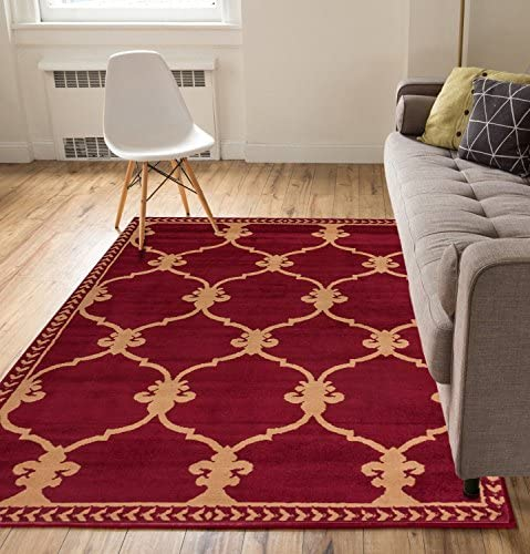 Well Woven Medallion Red 8 2 x 9 10 Area Rug Carpet