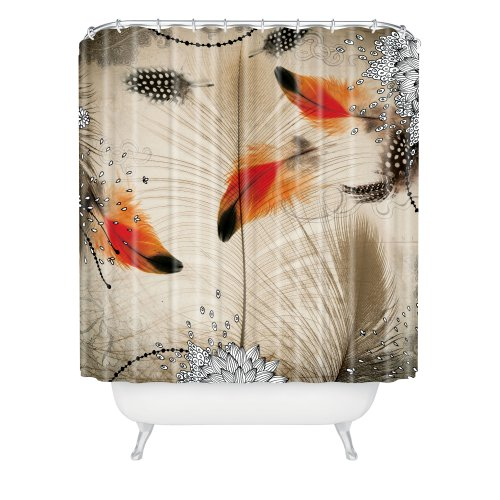 Deny Designs Iveta Abolina Feather Dance Shower Curtain, 69'' x 72'' by DENY Designs