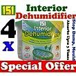 4 x Interior Portable Dehumidifier / De Humidifier Stop Moisture Damp Remover Mould Mildew Condensation Air Freshner Caravan Car Boat Home Office