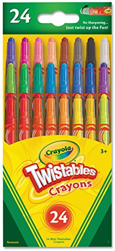Crayola Mini Twistable Crayons 24 in a Box (Pack of 4) 96 Crayons in Total by Crayola